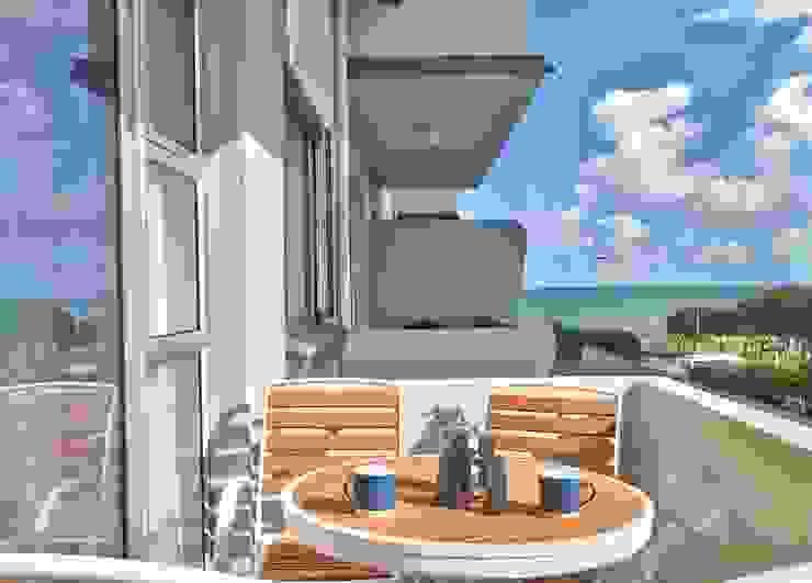 Балконы и веранды в эклектичном стиле от Studio Do Cabo Эклектичный