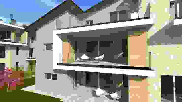Complesso residenziale Case moderne di ALMA Architettura | Mario Pan | Alessandro Pezzotti Moderno