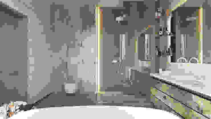 Дизайн интерьера коттеджа Ласковый май от студии Suite n.7 Ванная комната в скандинавском стиле от Suiten7 Скандинавский Мрамор