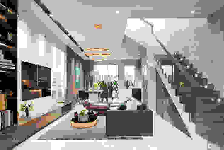 THIẾT KẾ BIỆT THỰ PALM CITY - Nét đẹp giao hòa trong không gian sống hiện đại bởi ICON INTERIOR Hiện đại