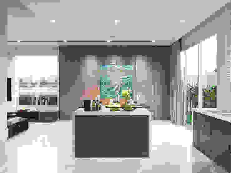 THIẾT KẾ BIỆT THỰ PALM CITY – Nét đẹp giao hòa trong không gian sống hiện đại Nhà bếp phong cách hiện đại bởi ICON INTERIOR Hiện đại