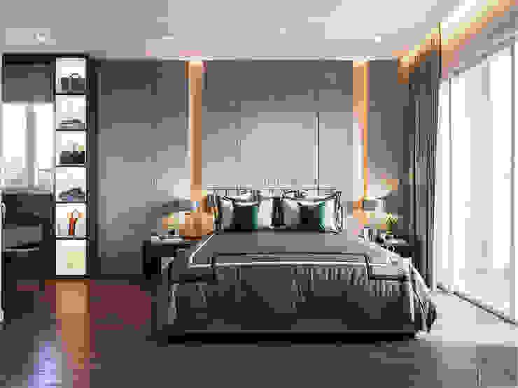 THIẾT KẾ BIỆT THỰ PALM CITY – Nét đẹp giao hòa trong không gian sống hiện đại Phòng ngủ phong cách hiện đại bởi ICON INTERIOR Hiện đại