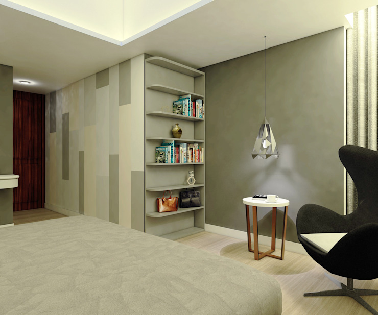 Project Apartemen Taman Anggrek Ruang Ganti Modern Oleh PT. Magnolia Adi Sentosa Modern