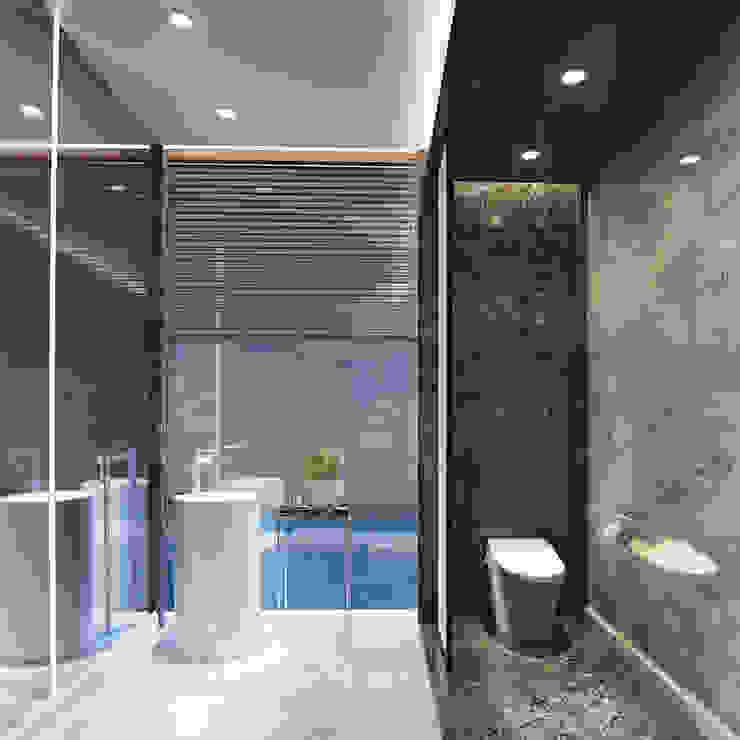 Veranda Apartement Kamar Mandi Modern Oleh nakula arsitek studio Modern