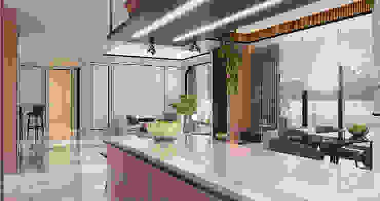Veranda Apartement Dapur Modern Oleh nakula arsitek studio Modern