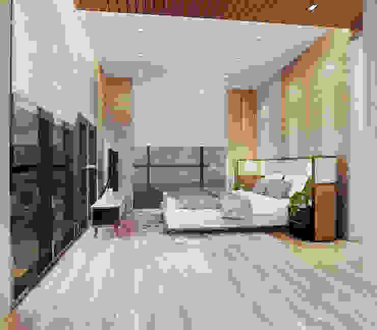 Veranda Apartement Kamar Tidur Modern Oleh nakula arsitek studio Modern