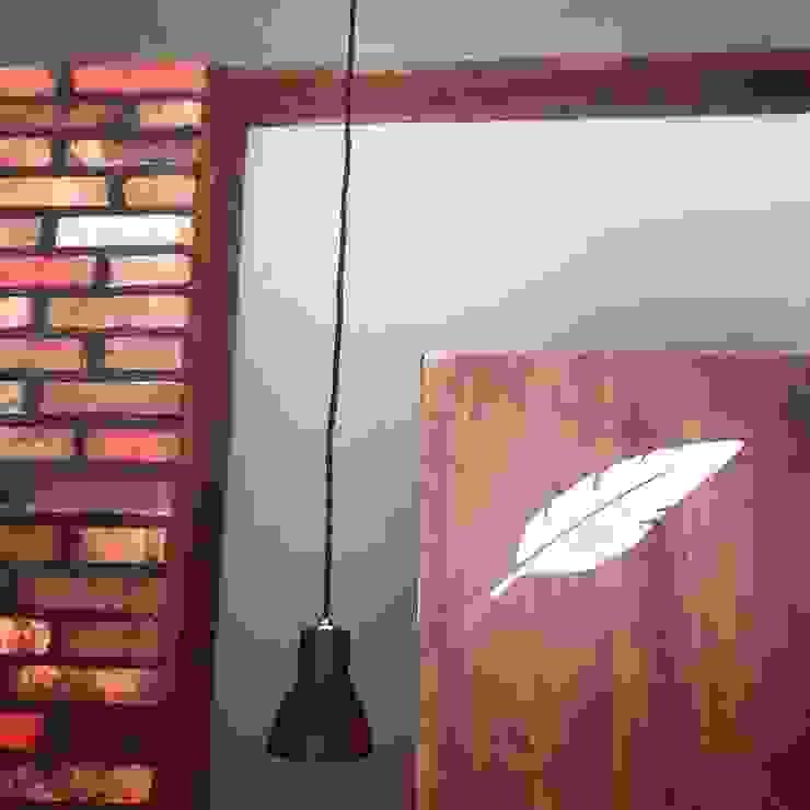 마리아엘레나 칵테일 바 인더스트리얼 거실 by 디자인브라더스 인더스트리얼 벽돌
