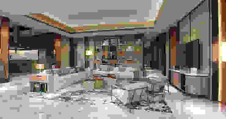 Interior Kartika House:  Ruang Keluarga by nakula arsitek studio