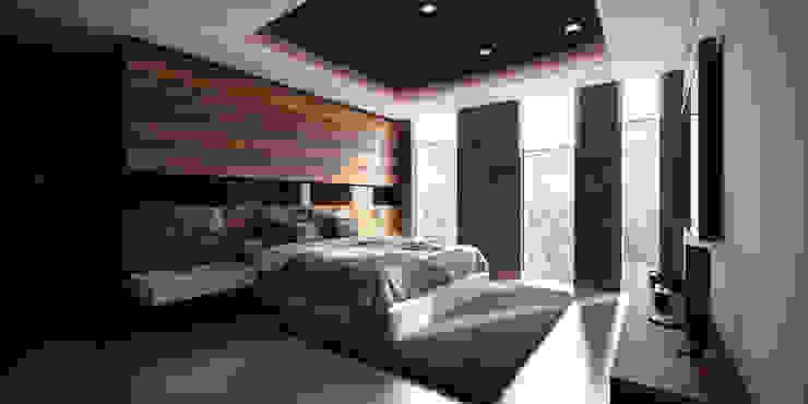 Recamara Principal Dormitorios modernos de Stuen Arquitectos Moderno Madera Acabado en madera