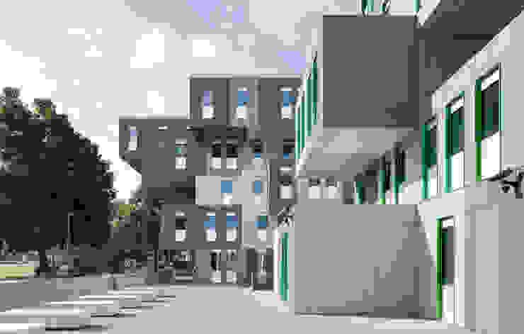 Case moderne di 코링크인터내셔날 Moderno Cemento