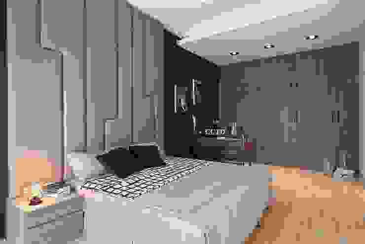Dormitorios de estilo  de 層層室內裝修設計有限公司, Escandinavo
