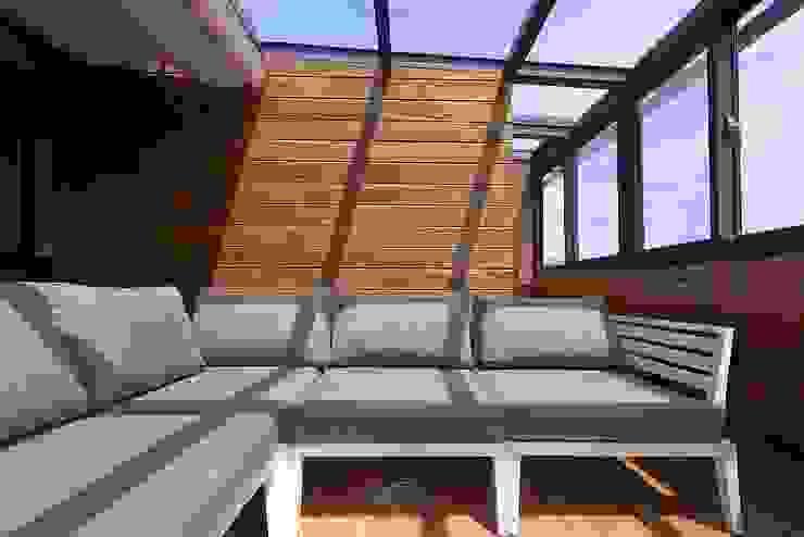 美式休閒渡假別墅 層層室內裝修設計有限公司 露臺