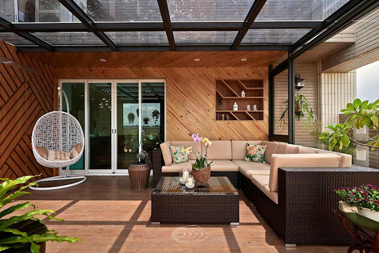 退休人文景觀宅 層層室內裝修設計有限公司 露臺