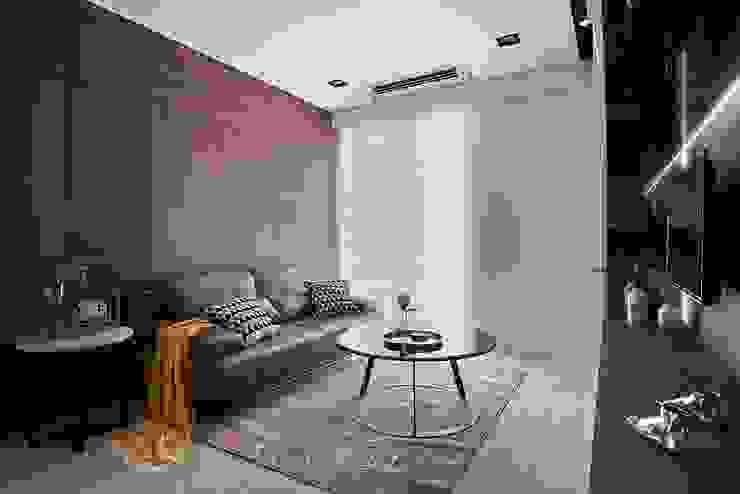 現代人文小豪宅 層層室內裝修設計有限公司 现代客厅設計點子、靈感 & 圖片