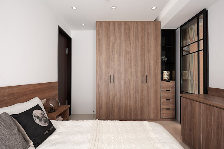 Moderne Schlafzimmer von 層層室內裝修設計有限公司 Modern