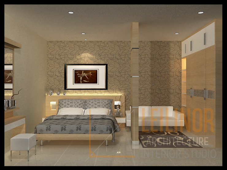 Modern Minimalist House Minimalist bedroom by CV Leilinor Architect Minimalist