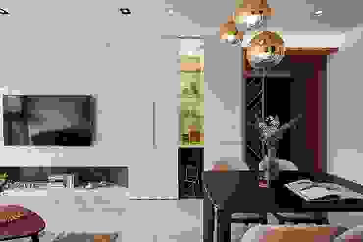 純淨質感宅 现代客厅設計點子、靈感 & 圖片 根據 層層室內裝修設計有限公司 現代風