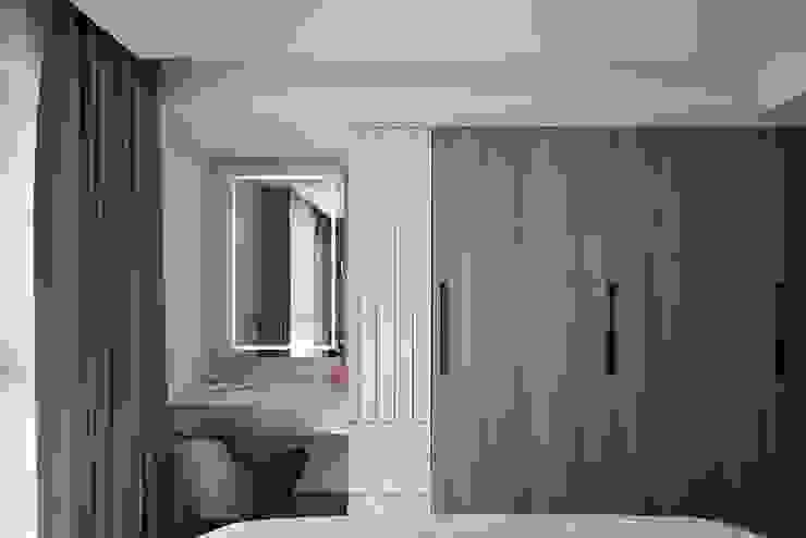 純淨質感宅:  臥室 by 層層室內裝修設計有限公司