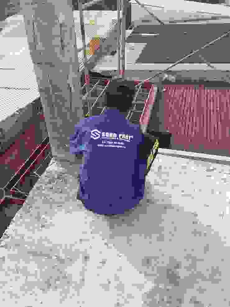 Thi công xây dựng phần thô nhà phố 3 tầng bởi Công ty Thiết Kế Xây Dựng Song Phát Châu Á