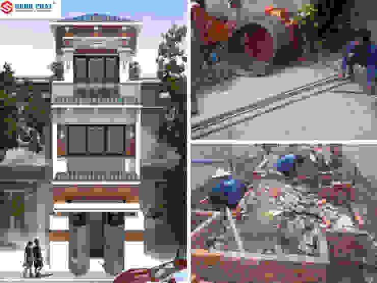 Xây nhà phần thô kết cấu 3 tầng với sự đầu tư về thiết kế bởi Công ty Thiết Kế Xây Dựng Song Phát Châu Á