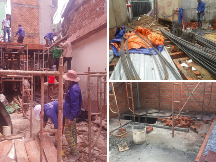 Thi công xây dựng nhà ở bởi Công ty Thiết Kế Xây Dựng Song Phát Châu Á