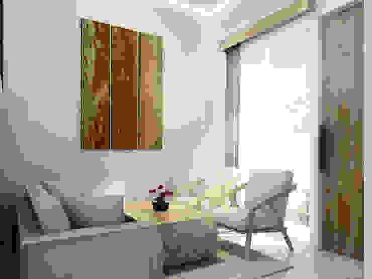 Interior Ruang Tamu :  Unit dapur by Atelier BAOU+