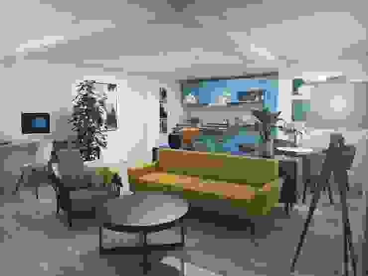 aponto Modern Living Room Multicolored