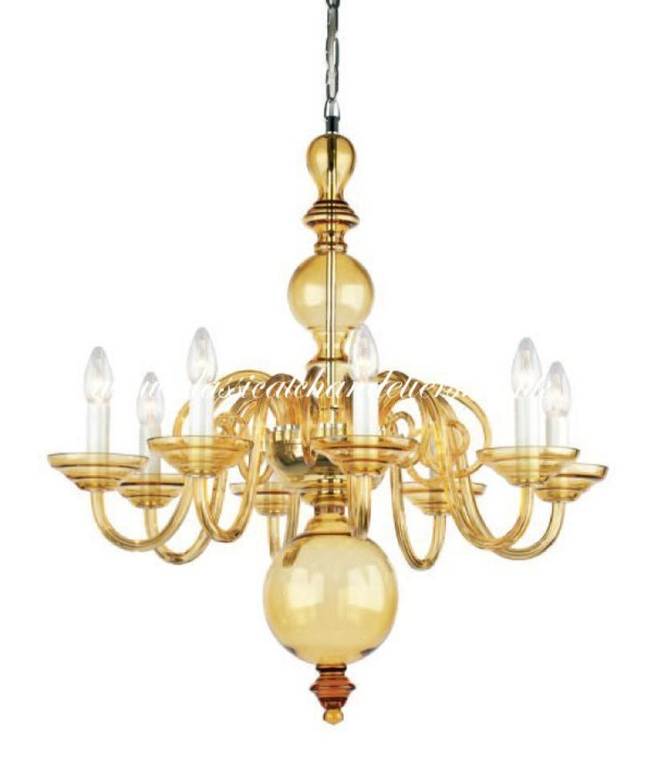 Chandelier PCAS54519/00/008 Amber Classical Chandeliers Living roomLighting Amber/Gold