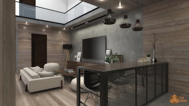 Rumah Pohon di Dalam Ruang Makan Modern Oleh Tierbonavi Modern