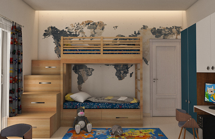 Nursery/kid's room by Modulart, Modern
