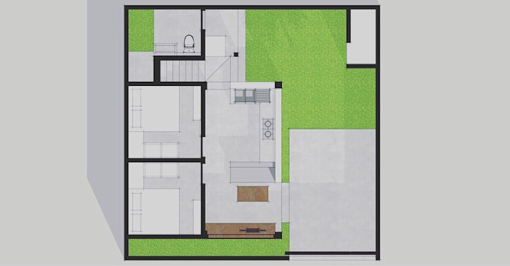 Layout Plan by Companion Architecture Studio Tropical