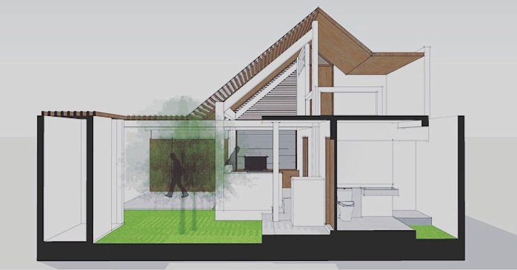 Section by Companion Architecture Studio Tropical