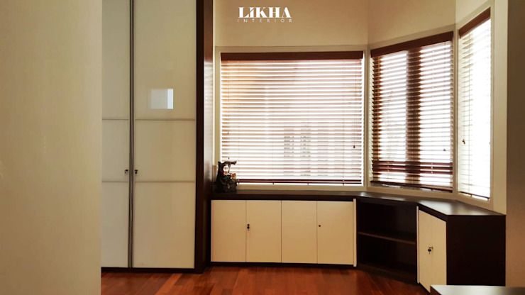 Likha Interior Modern style study/office Plywood Brown