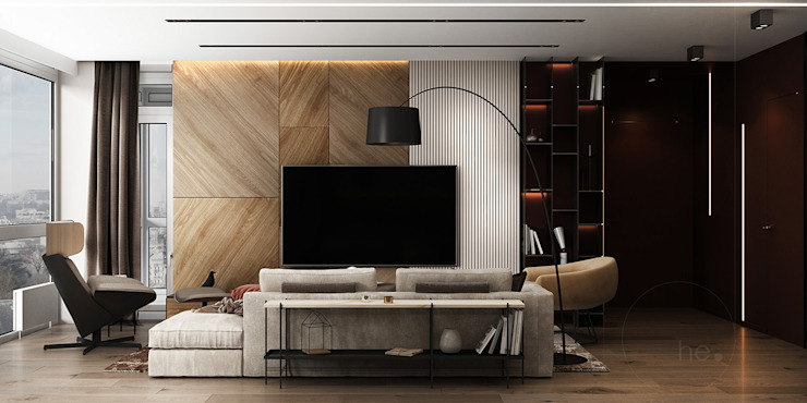 by he.d group Minimalist Wood Wood effect