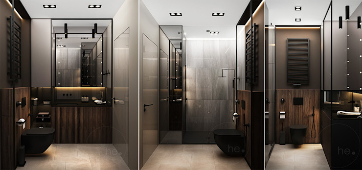 Minimalist style bathroom by he.d group Minimalist Wood Wood effect