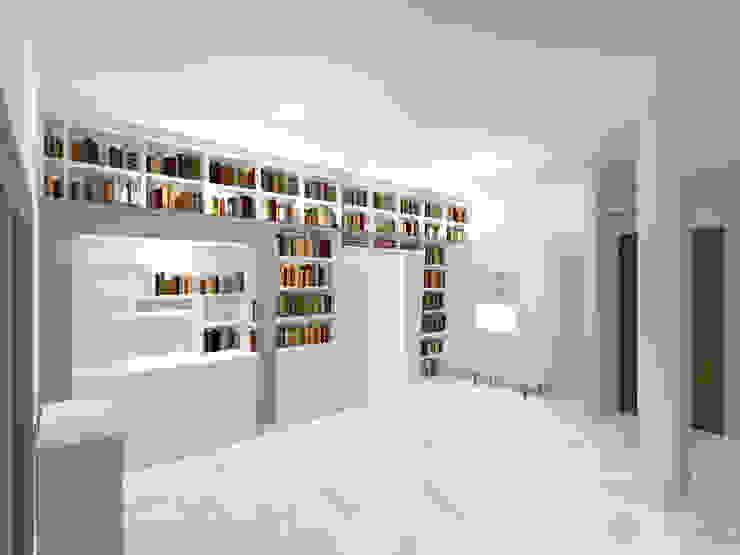Vista complessiva Soggiorno moderno di Daniele Arcomano Moderno