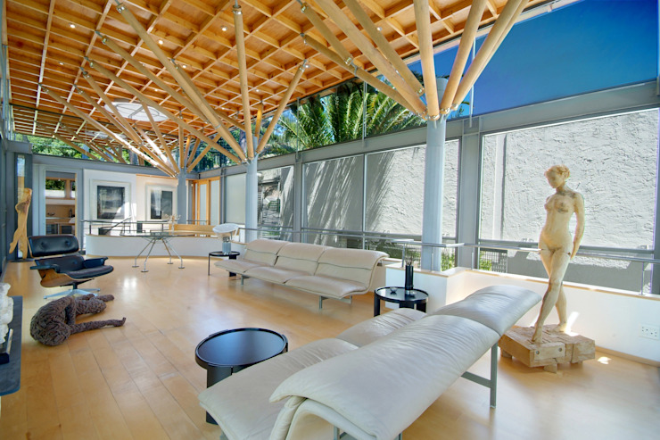 Lounge & Roof Structure Modern living room by Van der Merwe Miszewski Architects Modern Wood Wood effect