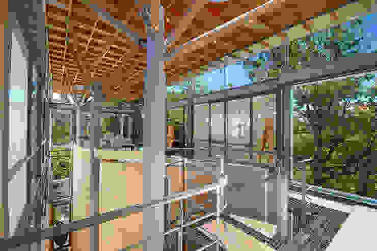 Main Entrance & Lounge Modern living room by Van der Merwe Miszewski Architects Modern Wood Wood effect