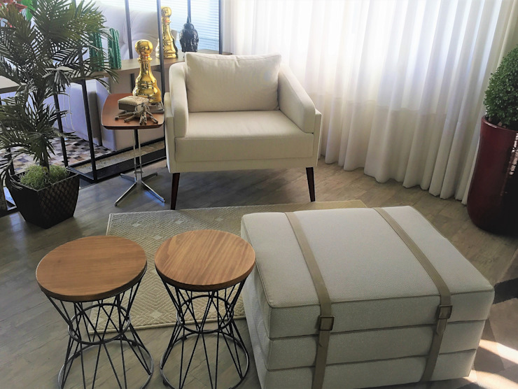 Sgabello Interiores Living roomStools & chairs Cotton Beige