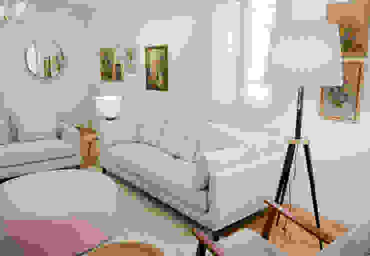 โดย Tangerinas e Pêssegos - Design de Interiores & Decoração no Porto โมเดิร์น ไม้ Wood effect