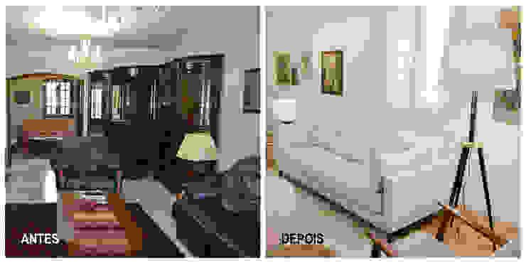 Renovação sala de estar Tangerinas & Pêssegos por Tangerinas e Pêssegos - Design de Interiores & Decoração no Porto Moderno