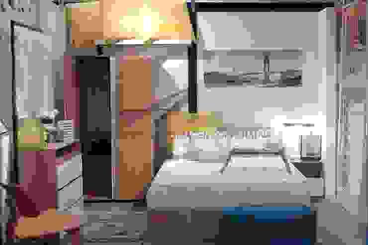 habitación para adultos Habitaciones de estilo escandinavo de Sara villa diseño interior Escandinavo Madera Acabado en madera