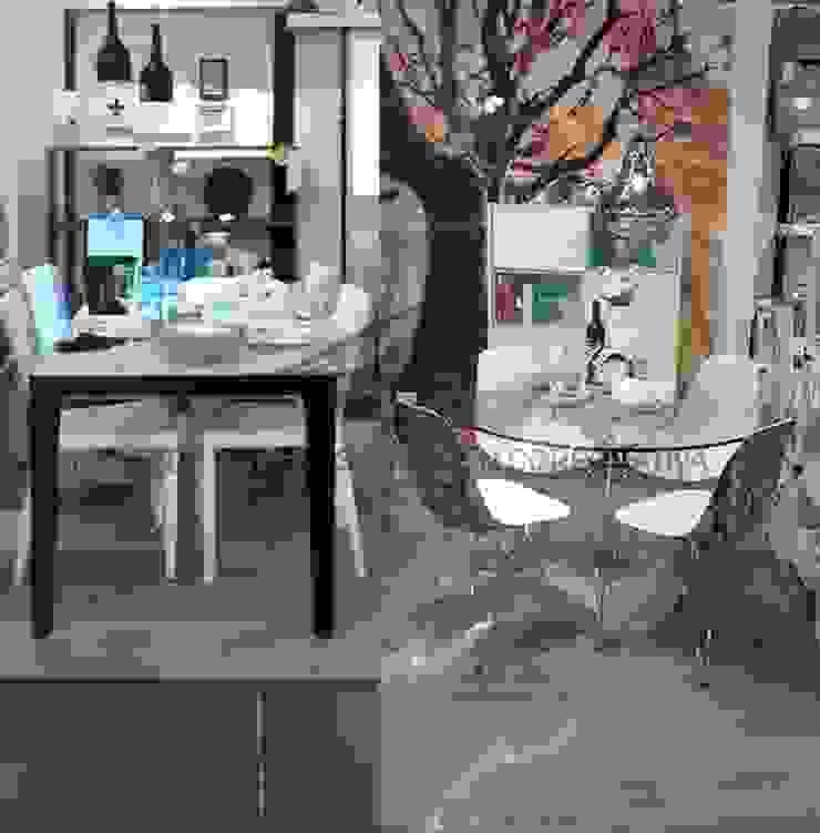comedores estilo  industrial:  de estilo industrial por Sara villa diseño interior , Industrial Vidrio