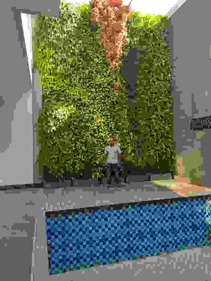 Taman vertikal Oleh Tukang Taman Surabaya - Tianggadha-art Modern Aluminium/Seng