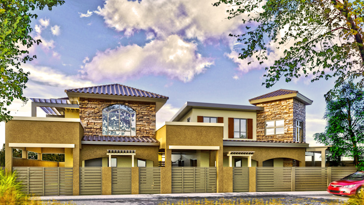 Two Storey Residences at Rosario Cavite by MG Architecture Design Studio Mediterranean