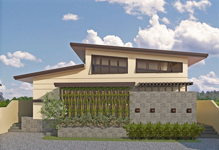 Two Storey Residence at San Miguel Bulacan by MG Architecture Design Studio Modern