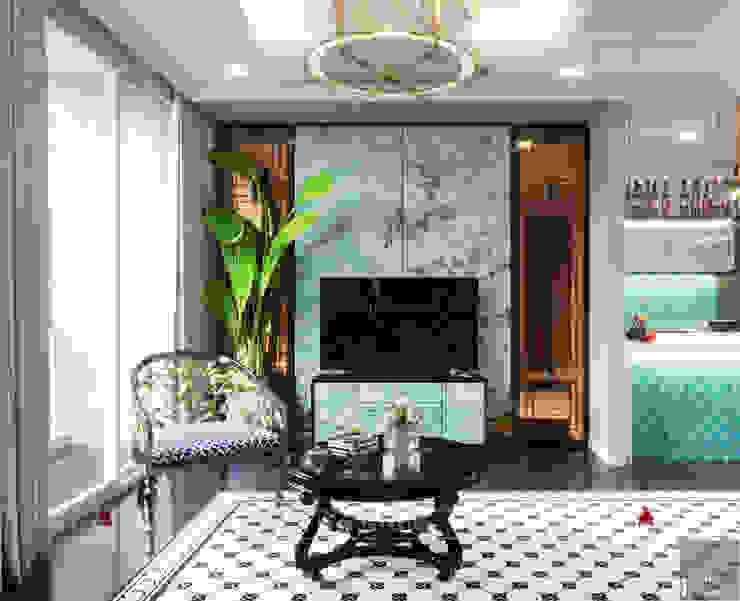 Aziatische woonkamers van ICON INTERIOR Aziatisch