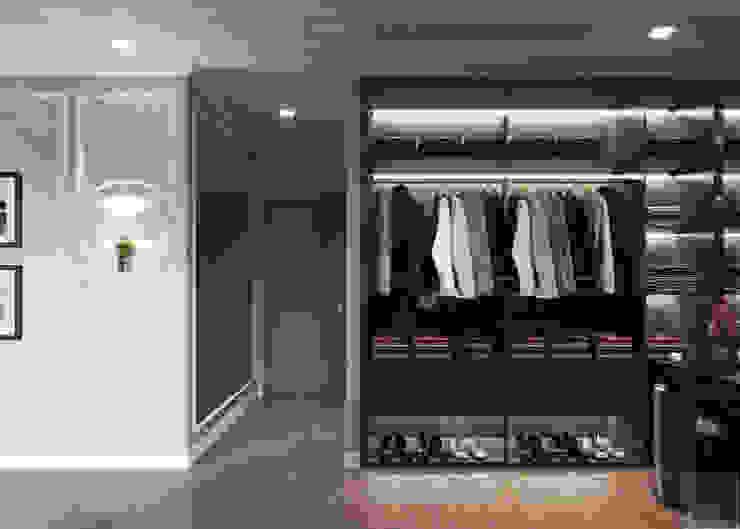 Thiết kế phong cách Đông Dương cùng sắc xanh độc đáo – Park Hill Phòng thay đồ phong cách châu Á bởi ICON INTERIOR Châu Á