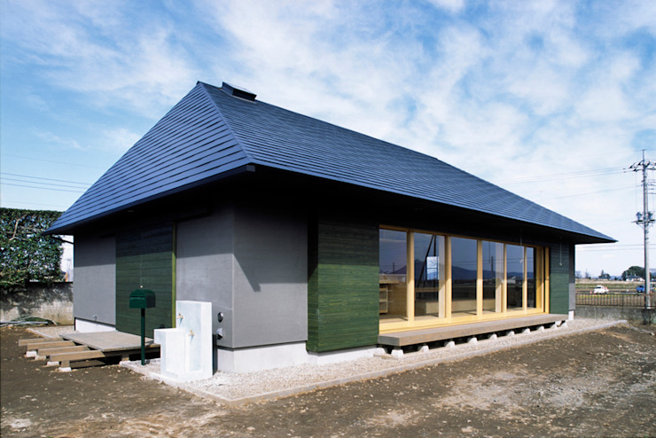 農家のはなれ: meenaxy design一級建築士事務所が手掛けた木造住宅です。,ミニマル 木 木目調