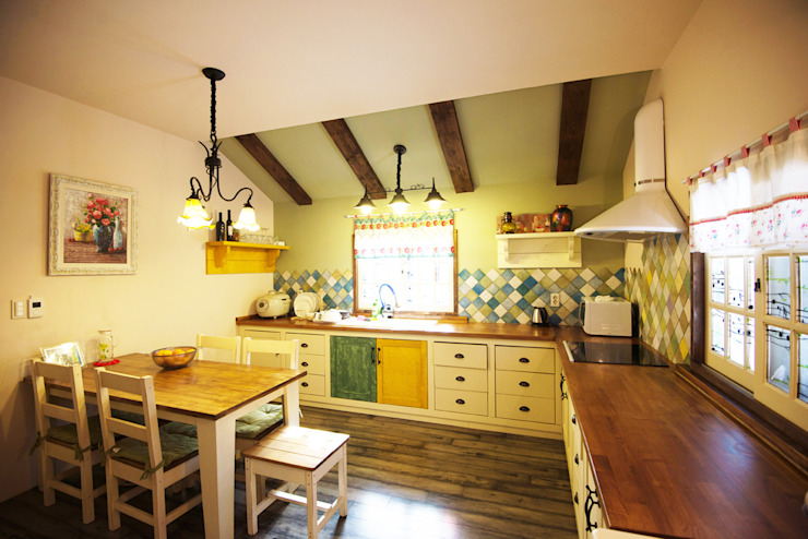 (주)메이드 Country style kitchen Green